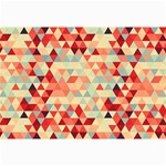 Modern Hipster Triangle Pattern Red Blue Beige Collage Prints 18 x12 Print - 2