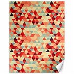 Modern Hipster Triangle Pattern Red Blue Beige Canvas 12  x 16   16 x12 Canvas - 1