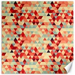 Modern Hipster Triangle Pattern Red Blue Beige Canvas 16  x 16   16 x16 Canvas - 1