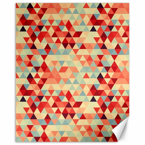 Modern Hipster Triangle Pattern Red Blue Beige Canvas 16  x 20
