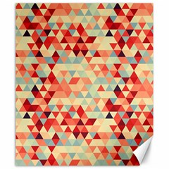 Modern Hipster Triangle Pattern Red Blue Beige Canvas 20  x 24