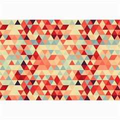 Modern Hipster Triangle Pattern Red Blue Beige Canvas 20  X 30