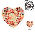 Modern Hipster Triangle Pattern Red Blue Beige Playing Cards 54 (Heart)  Front - Joker1