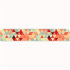 Modern Hipster Triangle Pattern Red Blue Beige Small Bar Mats