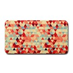 Modern Hipster Triangle Pattern Red Blue Beige Medium Bar Mats 16 x8.5 Bar Mat - 1