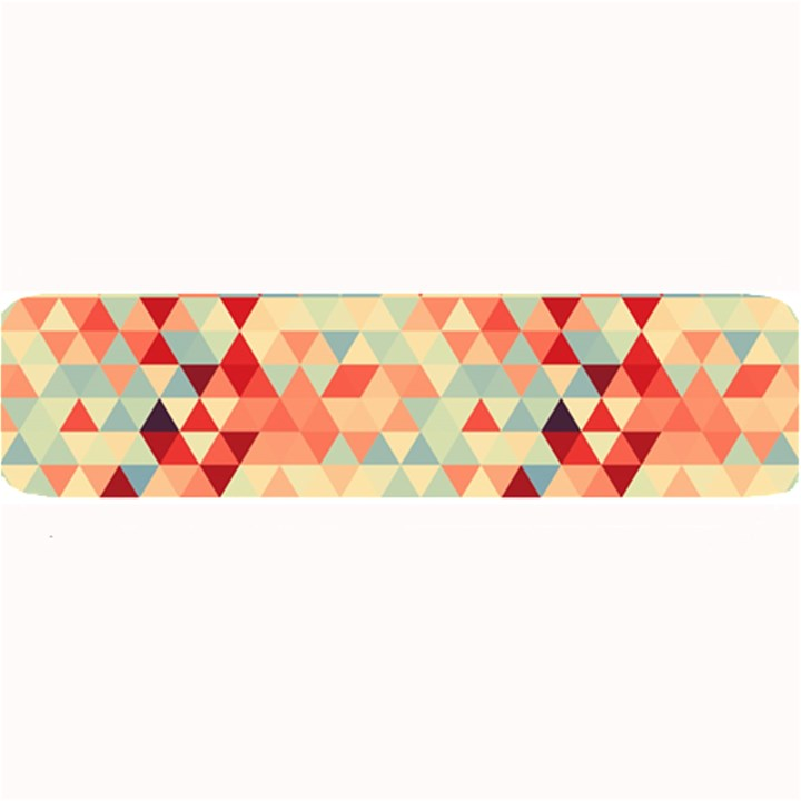 Modern Hipster Triangle Pattern Red Blue Beige Large Bar Mats