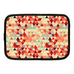 Modern Hipster Triangle Pattern Red Blue Beige Netbook Case (Medium)  Front