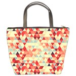 Modern Hipster Triangle Pattern Red Blue Beige Bucket Bags Back