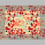 Modern Hipster Triangle Pattern Red Blue Beige Mini Canvas 6  x 4  6  x 4  x 0.875  Stretched Canvas