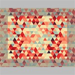Modern Hipster Triangle Pattern Red Blue Beige Mini Canvas 7  x 5  7  x 5  x 0.875  Stretched Canvas