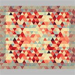 Modern Hipster Triangle Pattern Red Blue Beige Canvas 10  x 8  10  x 8  x 0.875  Stretched Canvas