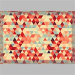 Modern Hipster Triangle Pattern Red Blue Beige Canvas 18  x 12  18  x 12  x 0.875  Stretched Canvas