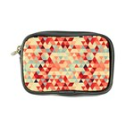 Modern Hipster Triangle Pattern Red Blue Beige Coin Purse Front