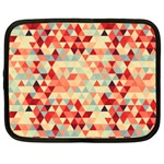 Modern Hipster Triangle Pattern Red Blue Beige Netbook Case (XL)  Front