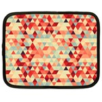 Modern Hipster Triangle Pattern Red Blue Beige Netbook Case (XXL)  Front