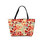 Modern Hipster Triangle Pattern Red Blue Beige Shoulder Handbags Back