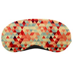 Modern Hipster Triangle Pattern Red Blue Beige Sleeping Masks