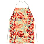 Modern Hipster Triangle Pattern Red Blue Beige Full Print Aprons Front