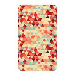 Modern Hipster Triangle Pattern Red Blue Beige Memory Card Reader