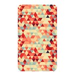 Modern Hipster Triangle Pattern Red Blue Beige Memory Card Reader Front