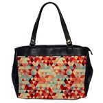 Modern Hipster Triangle Pattern Red Blue Beige Office Handbags Front