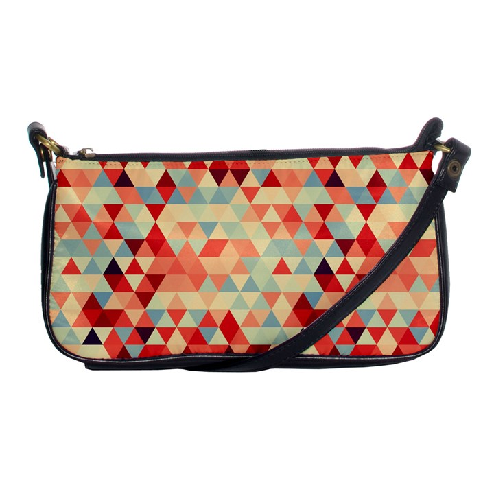 Modern Hipster Triangle Pattern Red Blue Beige Shoulder Clutch Bags