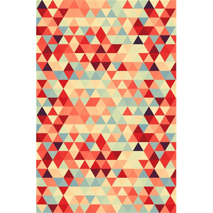 Modern Hipster Triangle Pattern Red Blue Beige 5.5  x 8.5  Notebooks