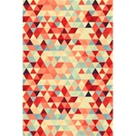 Modern Hipster Triangle Pattern Red Blue Beige 5.5  x 8.5  Notebooks Front Cover Inside