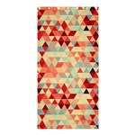 Modern Hipster Triangle Pattern Red Blue Beige Shower Curtain 36  x 72  (Stall)  33.26 x66.24 Curtain