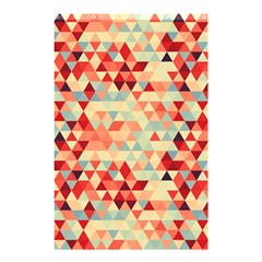 Modern Hipster Triangle Pattern Red Blue Beige Shower Curtain 48  x 72  (Small)