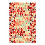 Modern Hipster Triangle Pattern Red Blue Beige Shower Curtain 48  x 72  (Small)  42.18 x64.8 Curtain