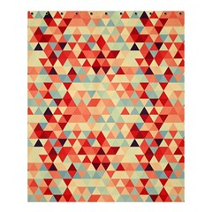 Modern Hipster Triangle Pattern Red Blue Beige Shower Curtain 60  x 72  (Medium)