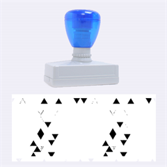 Modern Hipster Triangle Pattern Red Blue Beige Rubber Stamps (large)