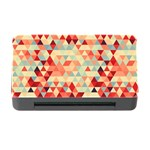 Modern Hipster Triangle Pattern Red Blue Beige Memory Card Reader with CF Front