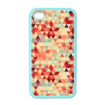 Modern Hipster Triangle Pattern Red Blue Beige Apple iPhone 4 Case (Color) Front