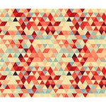 Modern Hipster Triangle Pattern Red Blue Beige Deluxe Canvas 14  x 11  14  x 11  x 1.5  Stretched Canvas