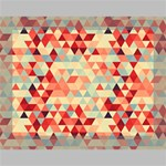 Modern Hipster Triangle Pattern Red Blue Beige Deluxe Canvas 16  x 12   16  x 12  x 1.5  Stretched Canvas