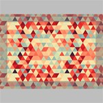 Modern Hipster Triangle Pattern Red Blue Beige Deluxe Canvas 18  x 12   18  x 12  x 1.5  Stretched Canvas