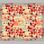 Modern Hipster Triangle Pattern Red Blue Beige Deluxe Canvas 24  x 20   24  x 20  x 1.5  Stretched Canvas