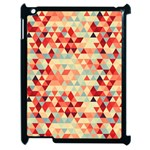 Modern Hipster Triangle Pattern Red Blue Beige Apple iPad 2 Case (Black) Front