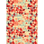 Modern Hipster Triangle Pattern Red Blue Beige BOY 3D Greeting Card (7x5) Inside