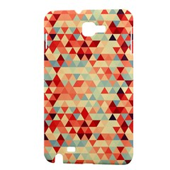 Modern Hipster Triangle Pattern Red Blue Beige Samsung Galaxy Note 1 Hardshell Case