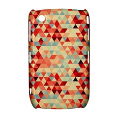 Modern Hipster Triangle Pattern Red Blue Beige Curve 8520 9300