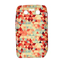 Modern Hipster Triangle Pattern Red Blue Beige Bold 9700