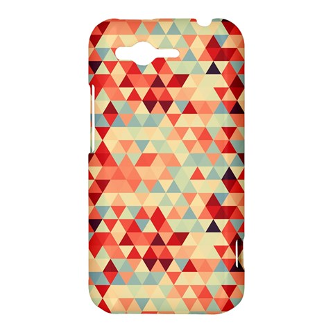 Modern Hipster Triangle Pattern Red Blue Beige HTC Rhyme