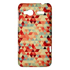 Modern Hipster Triangle Pattern Red Blue Beige HTC Radar Hardshell Case