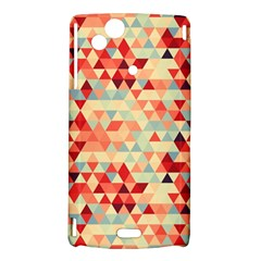 Modern Hipster Triangle Pattern Red Blue Beige Sony Xperia Arc