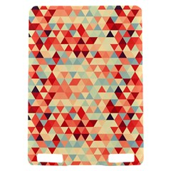 Modern Hipster Triangle Pattern Red Blue Beige Kindle Touch 3G