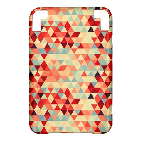 Modern Hipster Triangle Pattern Red Blue Beige Kindle 3 Keyboard 3G