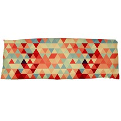 Modern Hipster Triangle Pattern Red Blue Beige Body Pillow Case (Dakimakura)